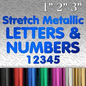 iron on stretch metallic letters numbers vinyl t shirt With iron on letters and numbers for shirts