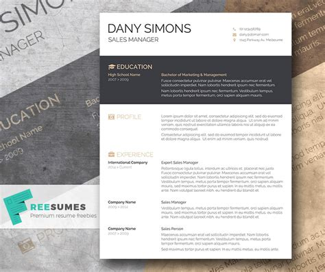Visually Appealing Resume Template by A Light And Free Cv Template The Modish Applicant