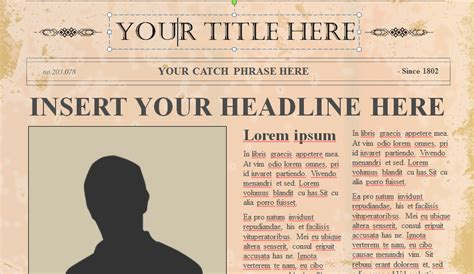 editable newspaper powerpoint template