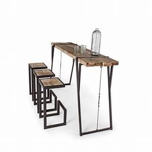 Meuble Bar Industriel : mobilier industriel meuble table bar blocks table bar blocks ~ Teatrodelosmanantiales.com Idées de Décoration