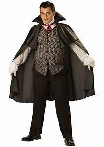Plus-Size Mens Midnight Vampire Costume - Mens Adult ...