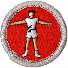 Personal Fitness Merit Badge Emblem  Boy Scouts Of America