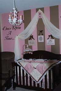 nursery ideas for girls Pink & Brown Baby Nurseries - Design Dazzle