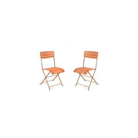chaise pliante métal lot de 2 contemporain chaise de chaise pliante slim en métal et textilène carotte