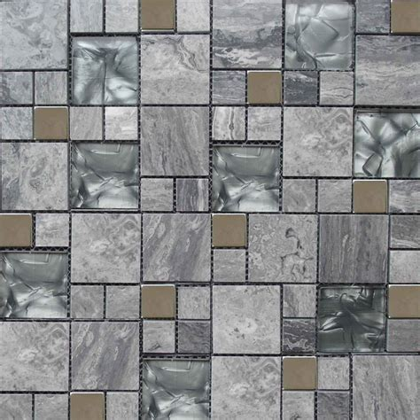 glass  marble grey colour mosaic tile xmm mosaic