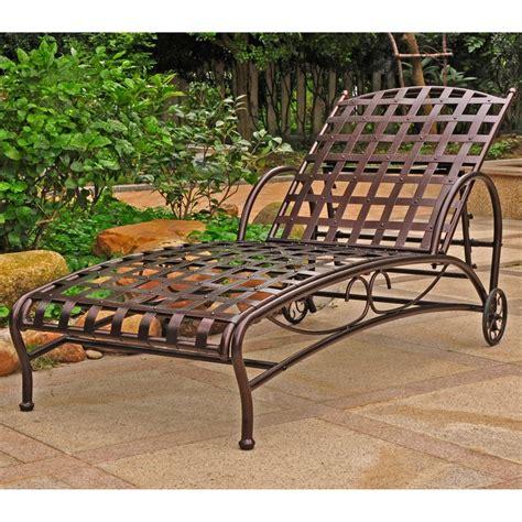 international caravan santa fe iron patio chaise lounge in