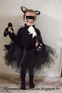 Deguisement Chat Fille : lili joue maman bricole tuto costume chat noir fille pour halloween couture pinterest ~ Preciouscoupons.com Idées de Décoration