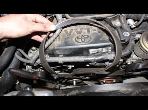 replacing serpentine belt toyota tacoma youtube