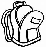 Backpack Open Coloring Pages Easy sketch template