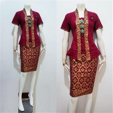 jual baju batik kebaya wanita modern model yahlan seragam pesta hijab  lapak ikhfa shop