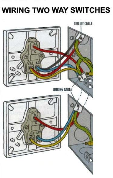wiring up a light switch electrics two way lighting