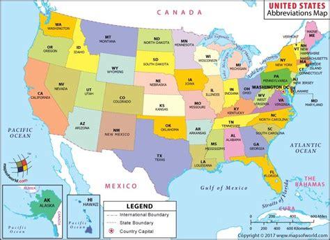 usa state map   states abbreviation map