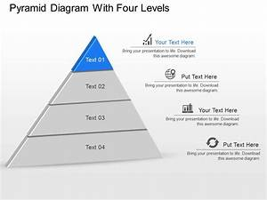 De Pyramid Diagram With Four Levels Powerpoint Template