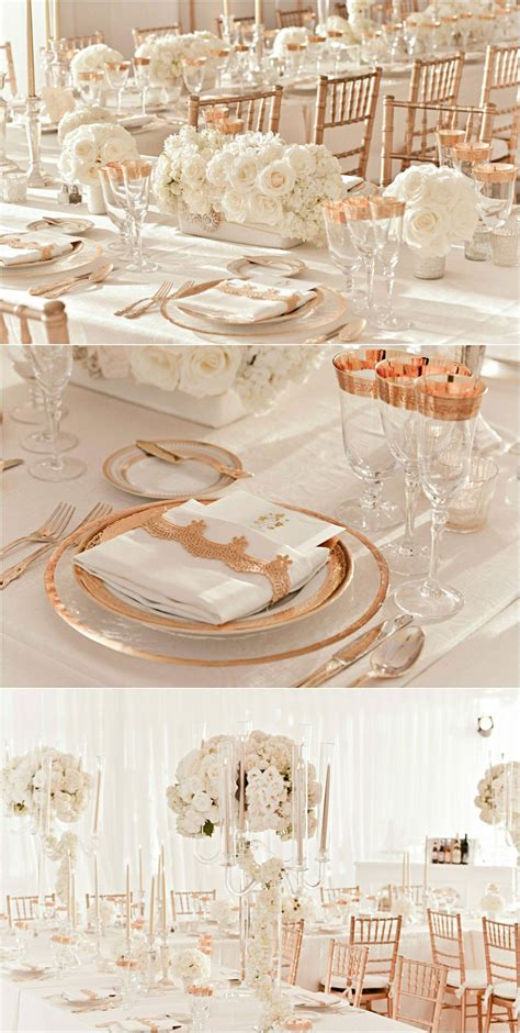24 Elegant Gold and Ivory Wedding Decor in 2020 Ivory