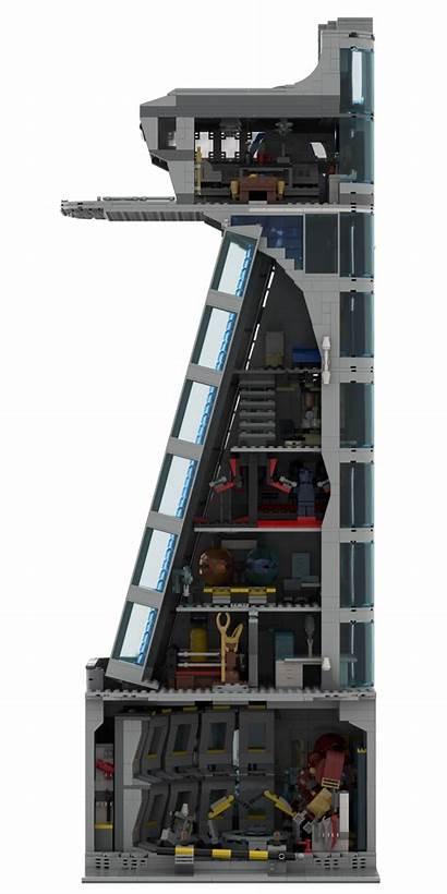 Avengers Tower Stark Moc Lego Building Modular