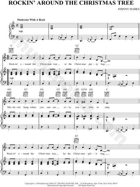 "Brenda Lee ""rockin' Around The Christmas Tree"" Sheet Music"