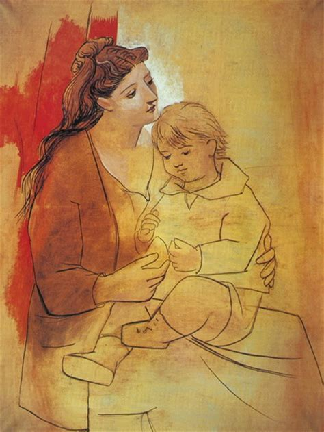 pablo picasso maternity red curtain