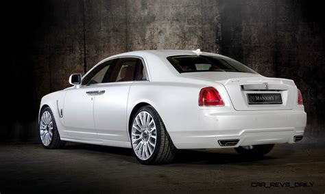 mansory rolls royce ghost upgrades in white and electric