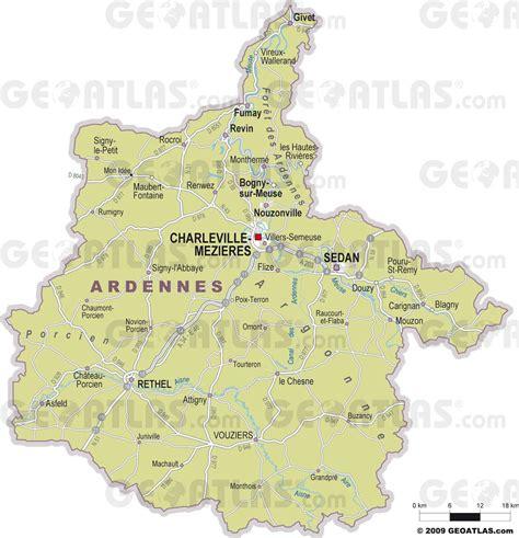 Ville De Carte by Carte Des Ardennes Ardennes Carte Du D 233 Partement 08