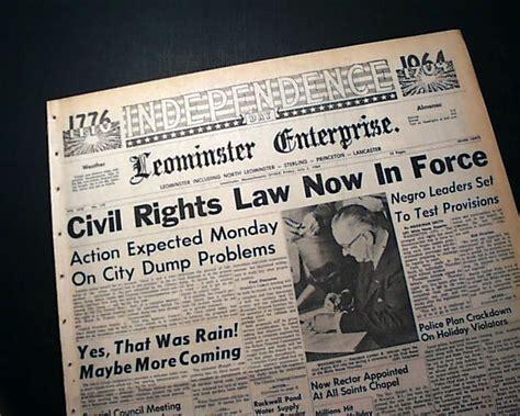 civil rights act   rarenewspaperscom