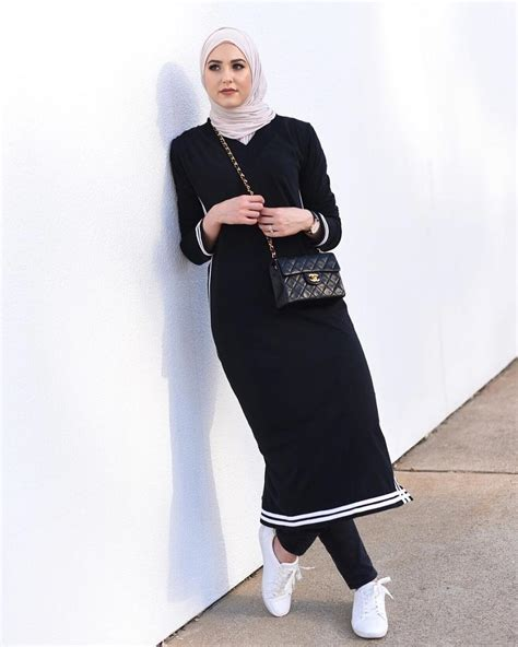 casual dress ملابس محجبات أجمل أزياء شتاء 2017 2018 موضة كل يوم