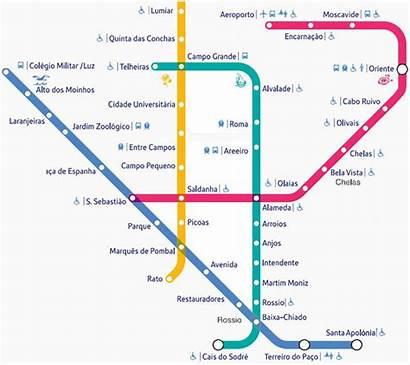 Lisbon Metro Map Transport