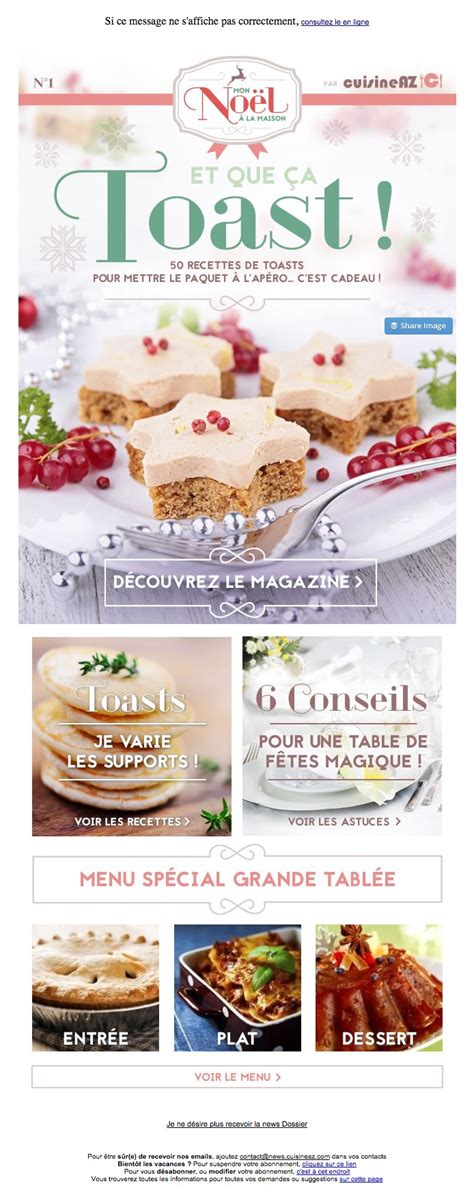 cuisine as galerie de newsletters de la marque the mailing book