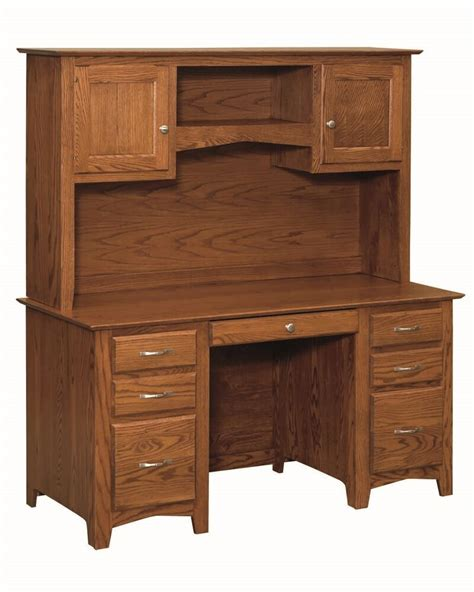 Solid Wood Hutch - 60 quot amish executive computer desk hutch home office solid