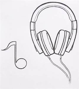Headphones Drawing Tumblr Pictures to Pin on Pinterest ...