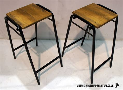 vintage school lab stool