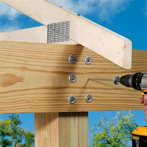 Decking Handrail Brackets by Thrulok Through Bolt Replacement Multi Ply Beam Fastener