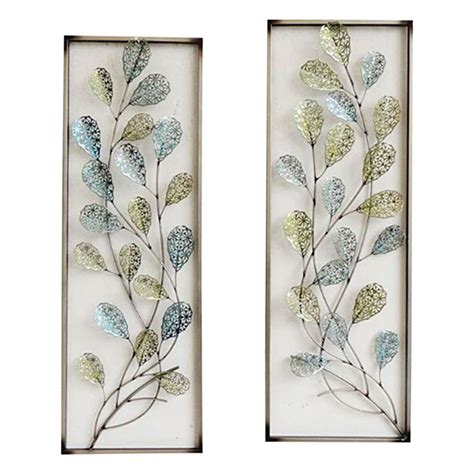 framed leaves wall 12 x 35 in framed filigree leaf wall d 233 cor at home 3512