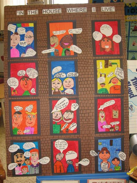 diverse families schoolwide equity unit display based
