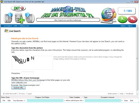 Download Free Url Site Submitter Spx 1.0.1