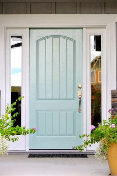 front door painted with wythe blue from benjamin moore