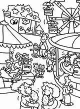 Coloring Park Pages Carnival Amusement Fair Theme County Fun Drawing Activity Games Food Adult Printable Contest Print Getcolorings Football Sheets sketch template