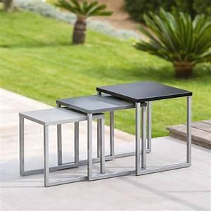 Table D Appoint Gigogne : tables gigognes manaus x3 gris hesp ride ~ Teatrodelosmanantiales.com Idées de Décoration