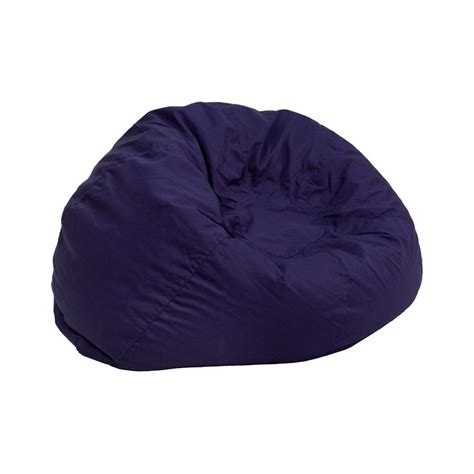 small solid navy blue bean bag chair from renegade