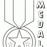 Medal Coloring Pages Colorings Honor Colouring Coloringway sketch template