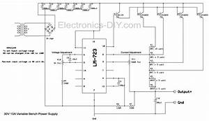 Bench Power Supply With Current Limiter And Voltage