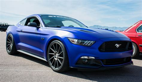 Matte Blue 2015 Ford Mustang Gt