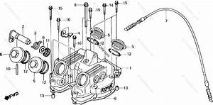 Honda Motorcycle 1987 Oem Parts Diagram For Cylinder Head