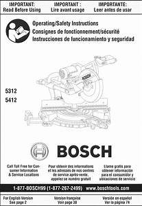 Bosch 5312 User Manual Miter Saw Manuals And Guides 1309227l