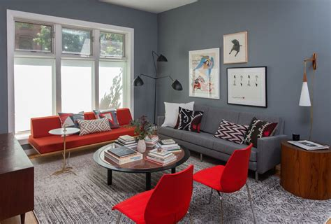 5 Contrasting Small Apartment Designs by Living Room And Bedroom Design In Retro Style Of A Two