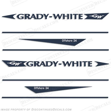 Where Are Grady White Boats Made by Grady White Offshore 24 Decal Kit
