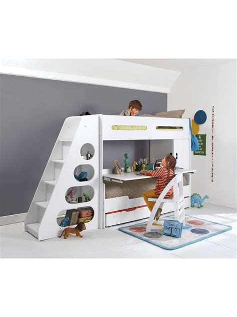lit mezzanine enfant pour combin 233 233 volutif combibed bureau lit enfant lit tiroir rangement
