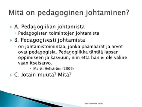 pedagoginen johtaminen
