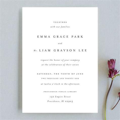 thousand years wedding invitations  classic white