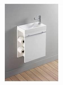 Lave Mains Complet Avec Meuble Design Blanc Et