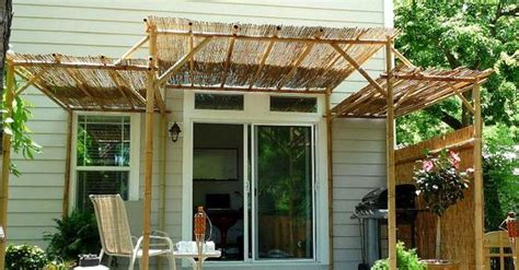 simple  easier  diy bamboo deck roofing  walls bamboo pergola jpg  home